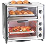 Syntrox Germany 42 Liter Edelstahl Doppel Backofen mit Barbecue